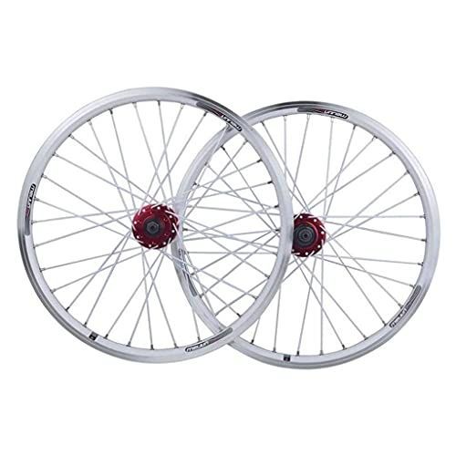 TYXTYX Juego de Ruedas de Bicicleta de 26 Pulgadas Ruedas de Ciclismo MTB Ruedas de Aluminio con Freno en V Rodamientos sellados de Disco Bicicleta híbrida de 11 velocidades Touring (Color: Blanco)