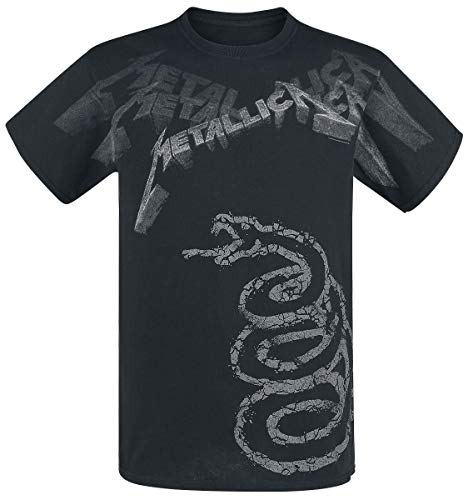 Probity Europe Ltd Metallica Black Album Faded Männer T-Shirt schwarz XL 100% Baumwolle Band-Merch, Bands