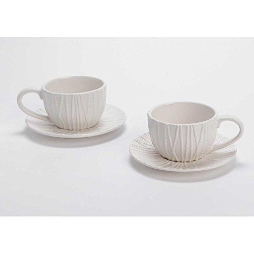 Tasse et sous tasse à thé en grès Amarres (Lot de 2)