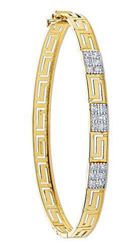 Pulsera Clave Griega Oro Amarillo de Mujer Pulsera Articulada Oro Macizo