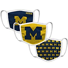 Michigan Wolverines Mens Apparel Soft Material This face covering is not intended for medical use, and not proven to reduce the transmission of disease. Water resistant fabric, washable & reusable 3 layers with 2 pleats: 100% polyester outer layer wi...
