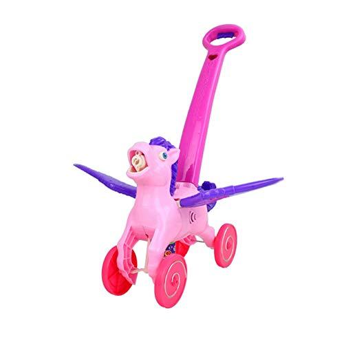 Bdesign Mano al aire libre de la burbuja empuje de los niños del cortacésped, juguetes de empuje coche de la burbuja burbuja niños de la máquina automática, máquina de la burbuja del cortacésped jugue