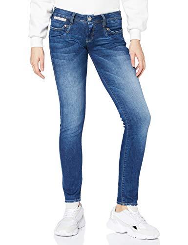 Herrlicher Damen Piper Slim Organic Denim Jeans, Blue Desire 866, W27/L32