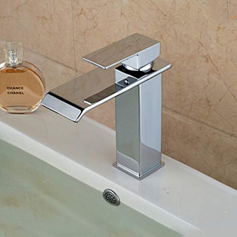 Floungey BadinsGrößetionen Waschtischarmaturen Küchenarmaturen Wasserfall-Bad Mit Wasserhahn, Verchromt, Wasserhahn Mit Wasserhahn, Warmes Und Kaltes Wasser