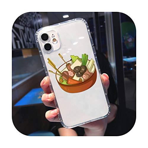 Delicioso comida moda lindo teléfono caso transparente para iPhone 11 12 mini pro XS MAX 8 7 6 6S Plus X 5S SE 2020 XR-a12-iPhoneXSMAX