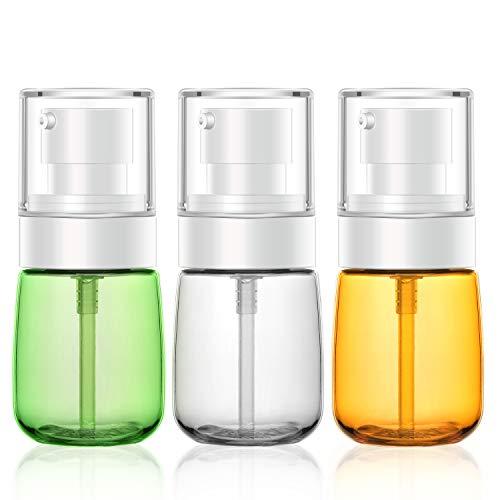 Botella de viaje de 3 piezas para loción, Segbeauty 30 ml / 1 oz Dispensador de botellas recargables para esencias Champú Sueros Bomba prensada Conjunto de envases de cosméticos vacíos