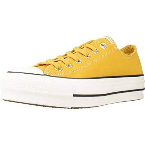 Converse - Zapatillas Chuck Taylor All Star Lift - Material nobuck Amarillo Size: 39.5 EU