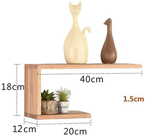Bloempot van massief hout decoratie voor woonkamer decoratie voor planten wandplank bloempot bloempot multifunctionele houten standaard voor bloempot (kleur: natuur) Natuurlijk.