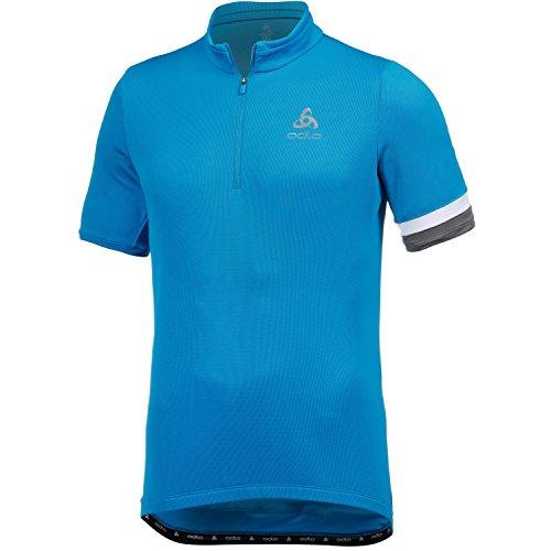 Odlo Herren Stand-Up Collar s/s 1/2 Zip Breeze Trikot, blau (blue jewel), M