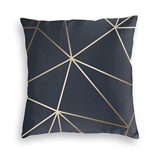 Zara Shimmer - Fundas de cojín de terciopelo dorado metálico para sofá, dormitorio, coche, con cremallera invisible, 45,7 x 45,7 cm