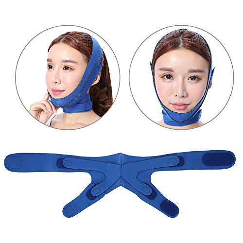 Adelgazante Facial Vendajes Máscara para Adelgazar Cara Reafirmante Piel Reductor Papada y Antiarrugas Faja facial piel compacto V-line