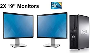 Dell Optiplex, Core 2 Duo 3.0Ghz, 1TB Hard Drive, New 8GB of Memory, Windows 10 x64, Dual 19in Monitors (Renewed)