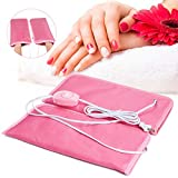 Noverlife Electric Heated Mittens Gloves for Paraffin Hand Wax Treatment, Nail Art Manicure Warmer Mittens, Beauty Therapy SPA Mitts for Women Beauty Treatment