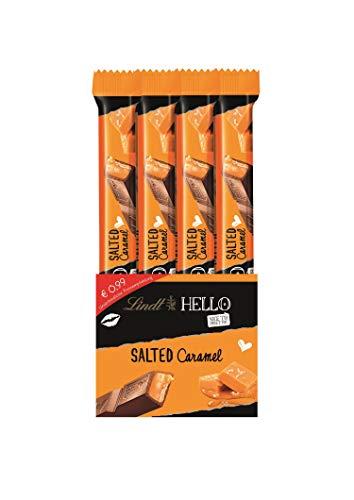 Lindt HELLO Sticks Salted Caramel, Vollmilch-Schokolade mit zartflüssigem Karamel und einem Hauch von Salz, 12er Pack (12 x 39 g)
