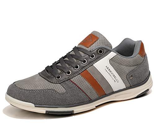 AX BOXING Scarpe Uomo Sportive Sneakers Running Ginnastica All'aperto Comodo Casual Running Taglia 41-46 (GrigioNE, Numeric_44)