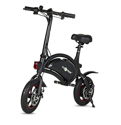 ECOXTREM Scooter eléctrico, Patinete eléctrico de Color Negro, Motor 250W, con batería LG y Ruedas de 14 Pulgadas. Ideal para Paseos urbanos.