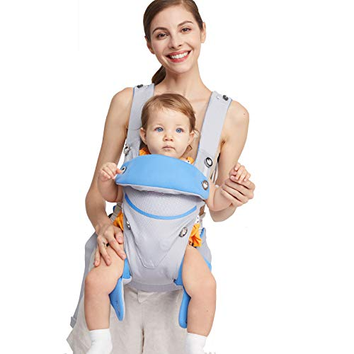 Eisemgou Adjustable Newborn to Toddler Carrier Multiple Ergonomic Positions Simple and Lightweight Front and Back Infant Carrier