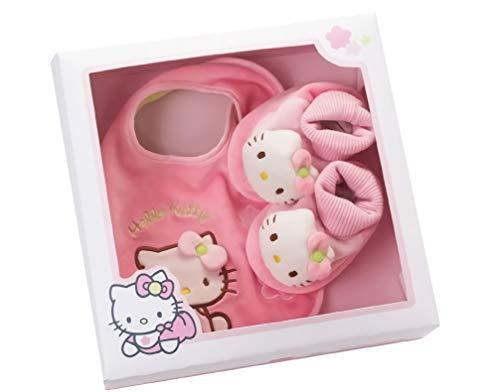 Coffret cadeau de naissance Hello Kitty - Ensemble doudou hochet et chaussons