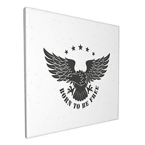 Cuadros para paredes de 30 x 30 cm El tema de la libertad. Águila es un símbolo de los Estados Unidos de América. Arte de pared en lienzo, imágenes para sala de estar y dormitorio 30,5 x 30,5 cm
