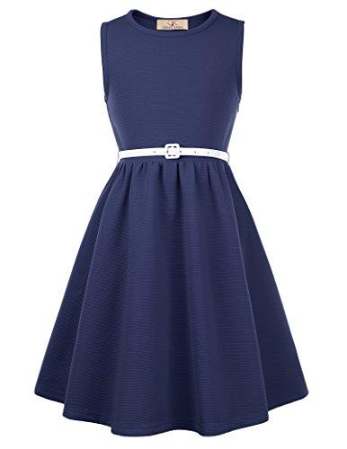 GRACE KARIN Elegant Maedchen Rockabilly Retro 50er Kleid 11-12 Jahre CL10482-2