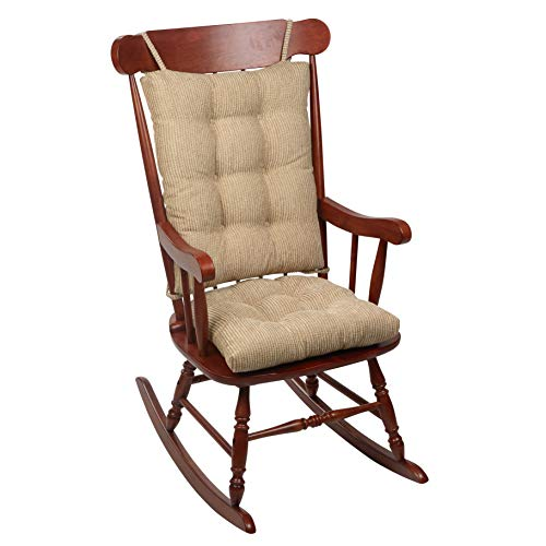 Klear Vu Out west Rocking Chair Pad Set, Seat: 17 x 17 x 3 inch Seat Back: 17 x 23 x 3 inch, Linen