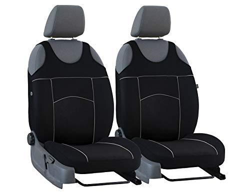 Sitzbezüge vorne Tuning 100 universelle Größe geeignet für Ford Ka+ SCHWARZ