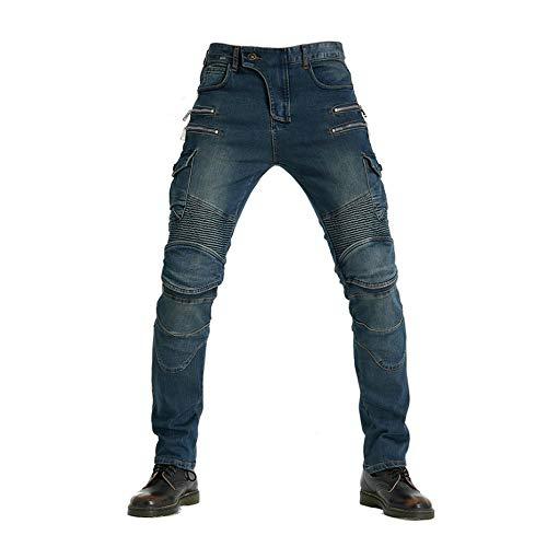 DDDD store Pantalones De Moto Pantalones Vaqueros para Montar En Motocicleta Tubo Recto Masculino Pantalones Locomotoras Sueltas Anticaídas Off-Road CE Equipo De Protección