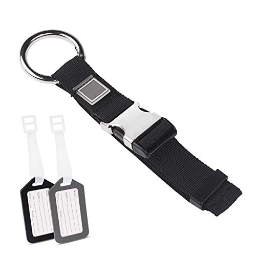 Add A Bag Luggage Straps Jacket Gripper, Yloves Baggage Suitcase Strap Belt with Luggage Tags Bag Labels Travel Accessories (1 Pack)