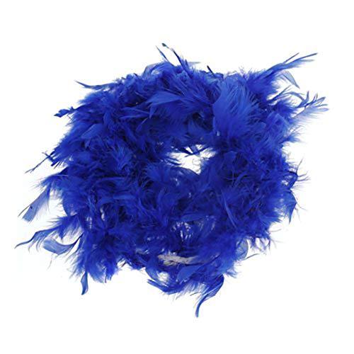 Morning May Boa de Peluche Hecho a Mano con Plumas de 6 pies de Largo, Azul Real