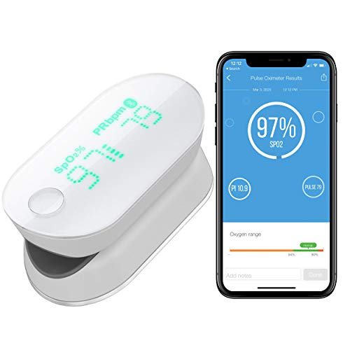 iHealth Air Wireless Fingertip Pulse Oximeter with Plethysmograph and Perfusion Index