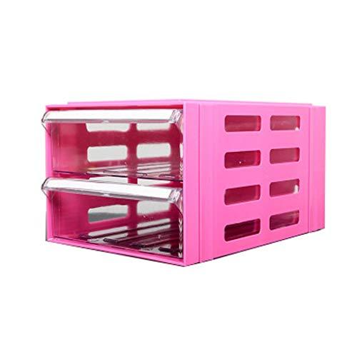 QIQIDEDIAN Gabinete de Archivo A4 Escritorio cajón de plástico Tipo Tabla de gabinete de Archivo de Tabla de Almacenamiento de Datos bajo el gabinete de Actividad (Color : Pink)