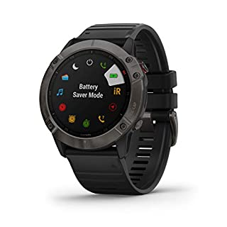 Garmin fenix 6X Sapphire, Premium Multisport GPS Watch, Features Mapping, Music, Grade-Adjusted Pace Guidance and Pulse Ox Sensors Carbon Gray DLC w/Black Bnd ,Carbon Gray (010-02157-12) (B07X82SS9J) | Amazon price tracker / tracking, Amazon price history charts, Amazon price watches, Amazon price drop alerts