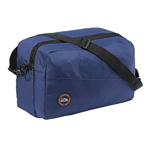 Cabin Max - Rio Stowaway Handgepäck 40 x 25 x 20 cm wasserfeste Schultertasche perfekt als Zweitgepäck für Ryanair Flüge 20 Liter mit Sicherheitsgewebe Organisationsfach(Blau)