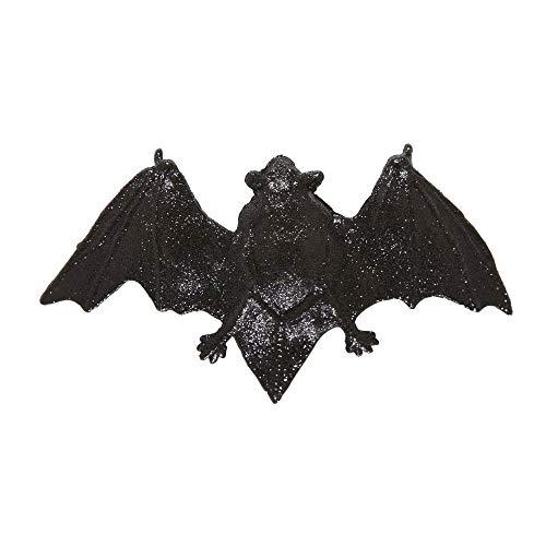 Widmann 8700B - Haarspange, Glitter Fledermaus, Schwarz, Haarclip, Haarschmuck, Mottoparty, Halloween, Karneval