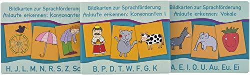 """PAKET Bildkarten zur Sprachförderung: Anlaute erkennen: Bestehend aus """"Anlaute erkennen: Vokale"""