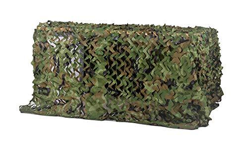 Chiglia - Red de camuflaje para sombra, camping, militar, caza, tiro, decoración de fiestas, etc., Bosque, 6.5x10ft/2x3m