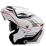 Casco Bluetooth para motocicleta Antiniebla Doble parasol abatible Casco para...