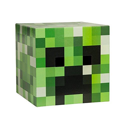 JINX Minecraft Creeper Head Costume Mask, Cardboard, 12x12x12 inches