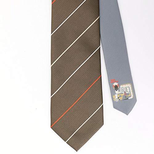 [ハイブリッドワーク] モンハン ネクタイ メンズ モンスターハンター ワールド 専用BOX付き ギフト キャラクターネクタイ クルルヤック×ストライプ 日本 8cm幅 (日本 8cm幅 (FREE サイズ))
