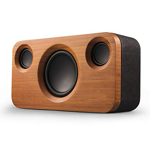 New YLJYJ 30W Bluetooth Speakers, Dual-Driver Wireless Bluetooth Home Bamboo Wood Stereo Speaker wit...