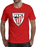 Bilbao Athletic Club - Camiseta básica de manga corta para hombre y juventud de algodón con cuello redondo