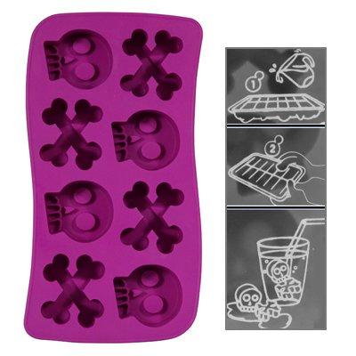 Eiswürfelform / Eiswürfelschale aus Silikon - Ice Cannibal Style / Lustige Totenkopf Eiswürfel