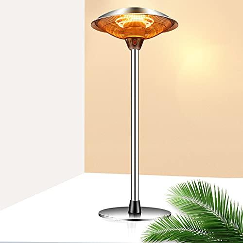 BKWJ Riscaldatore Elettrico da Tavolo 3KW Riscaldatore a infrarossi, Lampada riscaldante da Tavolo Indipendente da 37 Pollici, Riscaldatore da Patio Leggero per Interni/Esterni