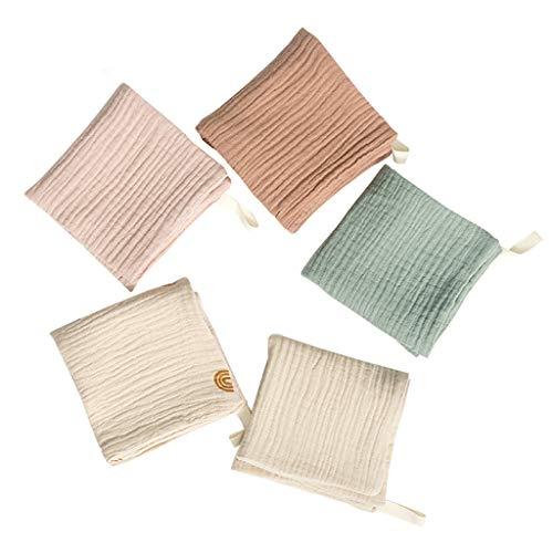 Y-POWER 5 toallas de baño para bebé, toalla de baño, pañuelo, tela de algodón para eructos, suave y absorbente, de gasa, para jardín de infancia