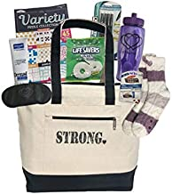 Cancer Care Package for Women Comfort Gift for Chemo Patient or Any Woman in The Hospital or Ill - Encouragement to Be Strong and Get Well Soon (Purple Represents All Cancers)