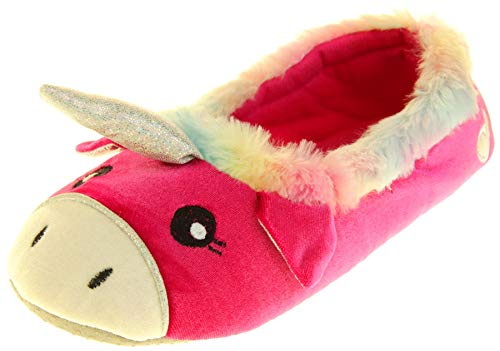 Zapatillas de Mujer Dunlop Winter Faux Fur Pink Unicornio EU 38-39 Medium