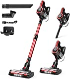 MooSoo Cordless Vacuum Cleaner, 24000Pa Stick Lightweight 4 in 1 Vacuum for Floor Carpet Pet Hair Stairs with Removable Battery, Adjustable Suction, Various Accessories, K17U