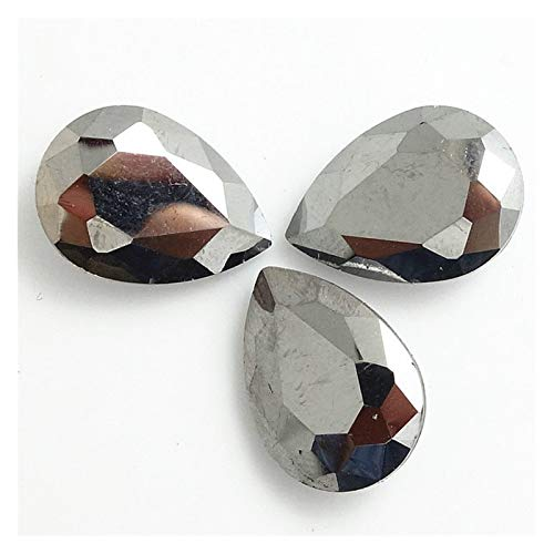ZHAO Faceted Crystal Glass Rhinestones Teardrop Loose Beads Jewelry 7x10/10x14/13x18/18x25/20x30mm (Color : Fiber black, Size : 20x30mm 5pcs)