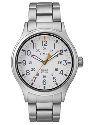 Relógio masculino Timex Allied branco mostrador aço inoxidável TW2R46700