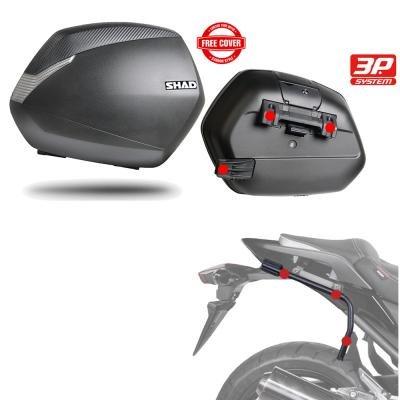 Sh36he20 - Kit Fijaciones y Maletas Laterales sh36 Compatible con Kawasaki Vulcan s 2015-2017